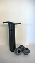 Buy Wine Online - SCREWPULL WINE PUMP. BLACK PLASTIC WITH 3 STOPPERS